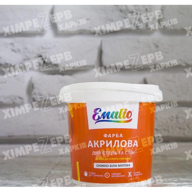 Сніжно-біла акрилова фарба Emalio