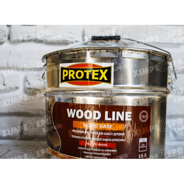 Просочувач грунтуючий Protex для захисту деревини WOOD LINE WOOD BASE