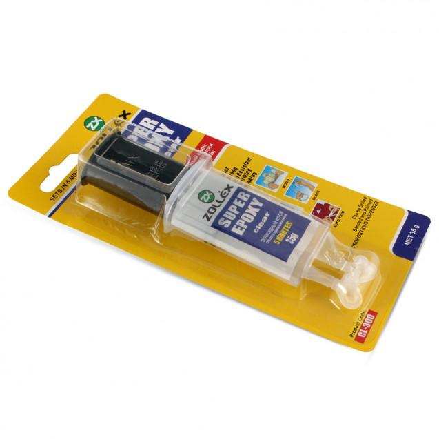Епоксидний клей прозорий універсальний 2-компонентний шприц