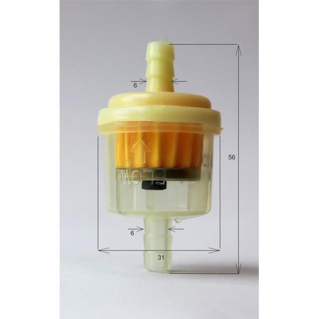 Фільтр паливний Z-314 прямий з магнитом для мопедів